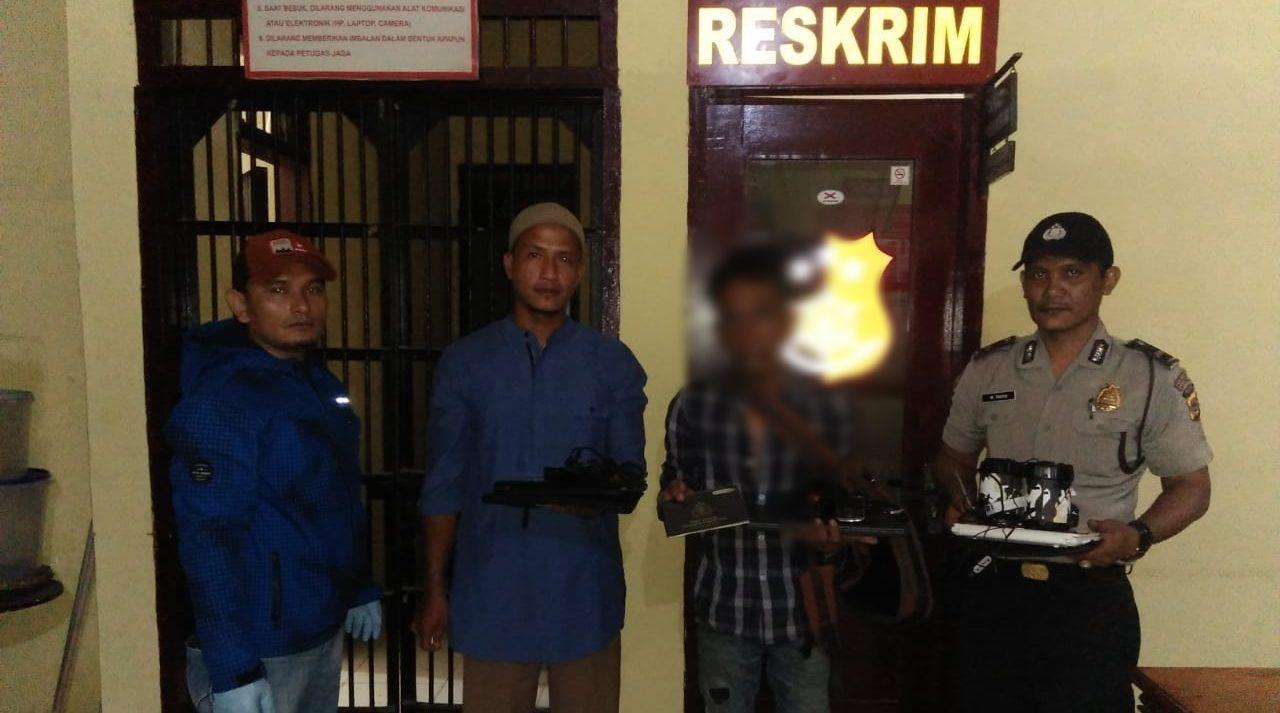 Gasak Laptop dan HP Kantor Notaris di Aceh Besar, Warga Sleman Diringkus Polisi