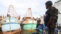 2 Kapal Asing Pencuri Ikan Ditangkap di Selat Malaka