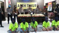 Polres Aceh Timur Gagalkan Penyeludupan 45 Kg Sabu Jaringan Internasional