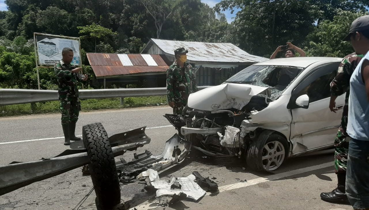 Seorang Warga Aceh Barat Meninggal Dunia Usai Tabrak Pembatas Jalan di Patek