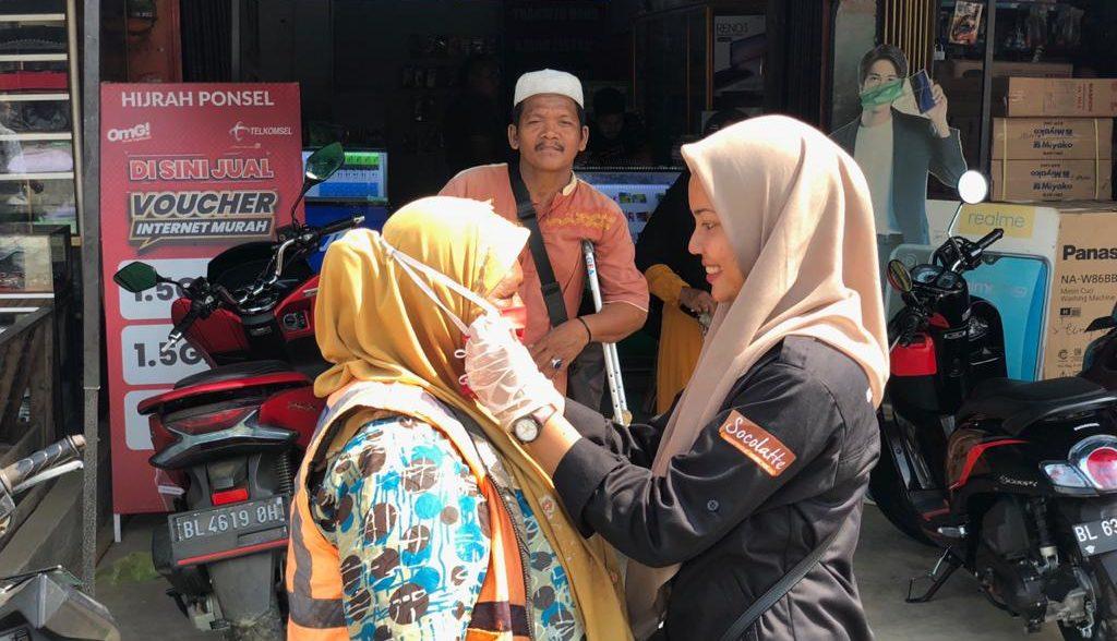 MRI Pidie Jaya Dan ACT Aceh Ajak Masyarakat Pidie Jaya Menggunakan Masker Untuk Cegah Penyebaran Covid-19
