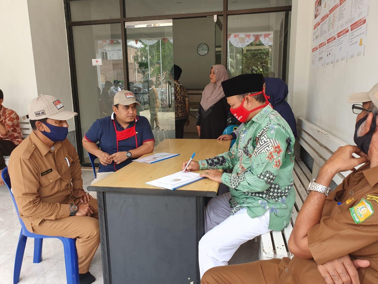 Relawan Pemuda Aceh Besar Berkoordinasi dengan Ketua PMI