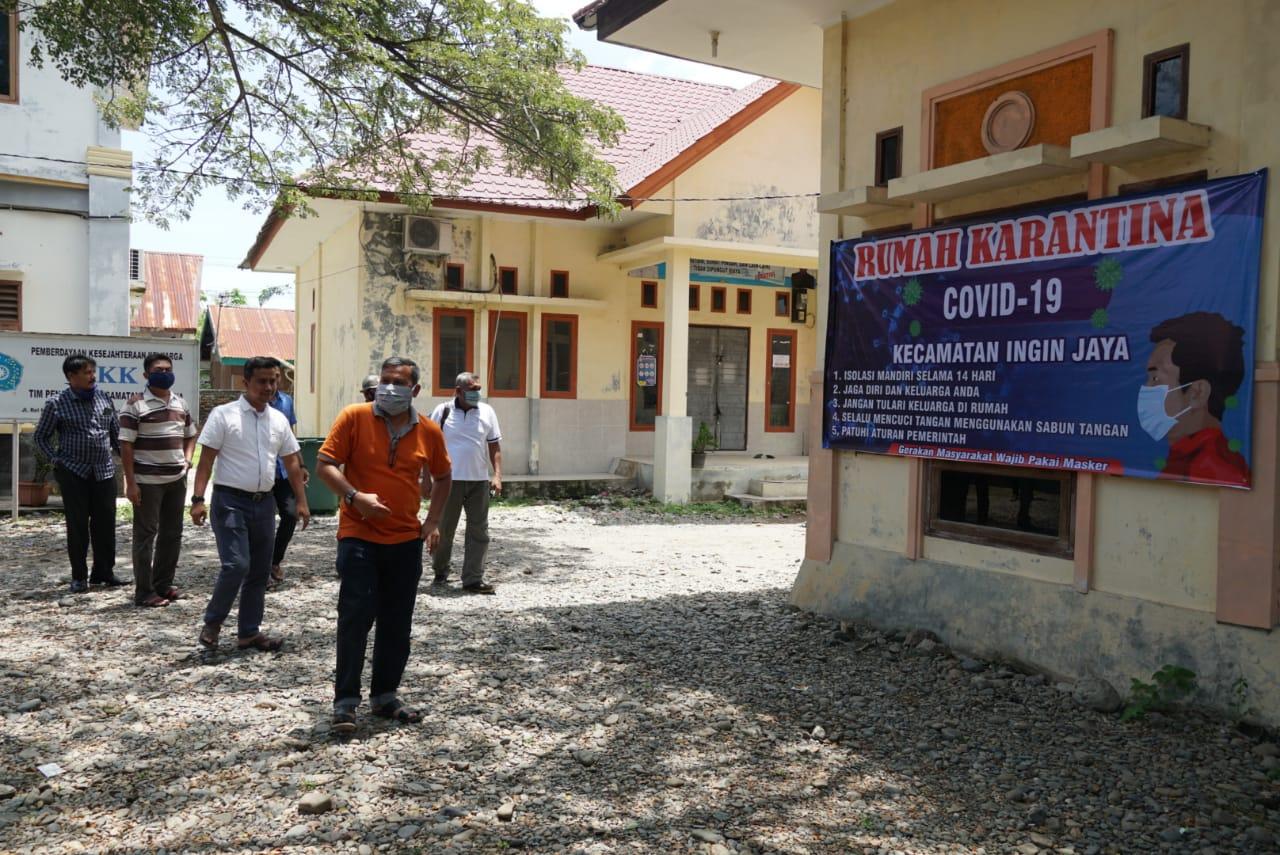 Tim Penanganan Covid-19 Aceh Besar Meninjau Rumah Karantina di Ingin Jaya