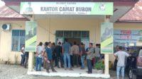 Masyarakat Desa Peulante Melakukan Aksi Unjuk Rasa Di Kantor Kecamatan Bubon Aceh Barat