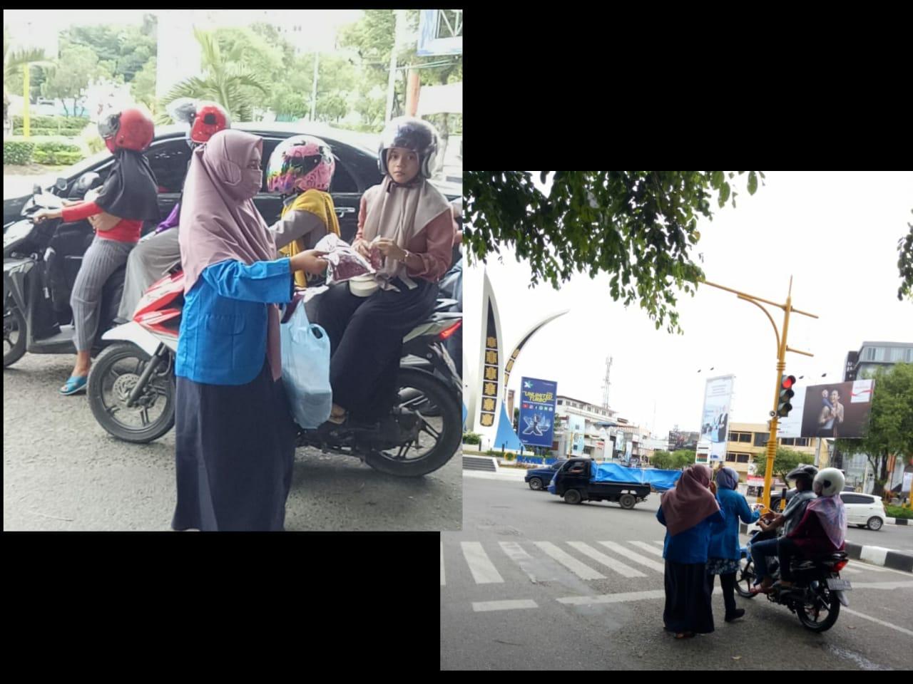 PMII Banda Aceh Banda Aceh Bagi-Bagi Masker Di Bundaran Simpang Lima 1