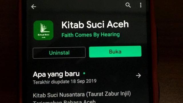 Aplikasi Kitab Suci Aceh Sudah di Takedown di Play Store