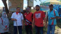 Menuju New Normal Sekda dan KNPI Aceh Timur Lakukan Gotong Royong
