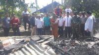 Relawan Muda Partai Aceh Kunjungi rumah Korban Kebakaran Di Laweung